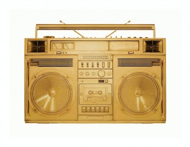 , ' Gold Boombox - Version .002,' 2018, Art Angels