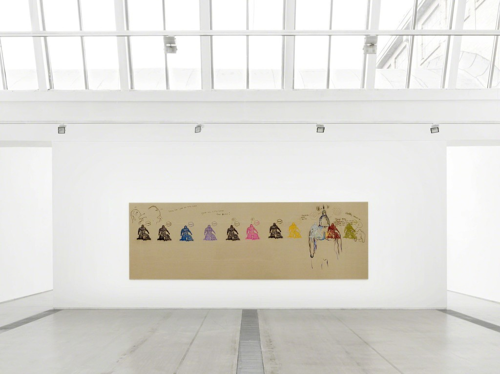 Installation view of Bjarne Melgaard's 'Untitled, 1999', Faurschou Foundation, Bejing, 2015. Photo by Jonathan Leijonhufvud, © Faurschou Foundation