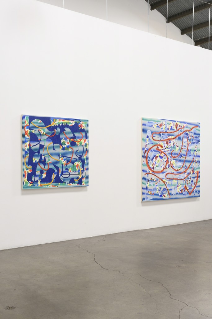 Installation View:  Group Show, featuring Trudy Benson, Farshad Farzankia, Benjamin Klein, and Jean Isamu Nagai at Richard Heller Gallery. Exhibition Dates: January 6 - February 10, 2018.   This wall: Work by Trudy Benson.
