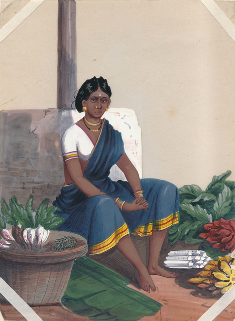 , 'A vegetable seller,' , Swaraj Art Archive