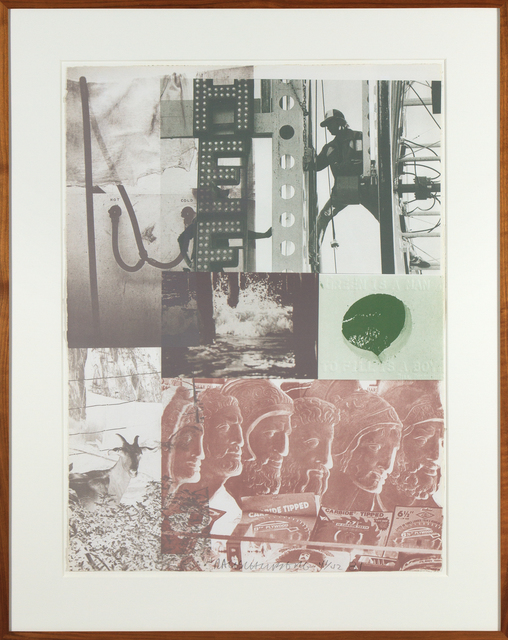 Robert Rauschenberg, 'American Pewter with Burroughs II', 1981, Heather James Gallery Auction