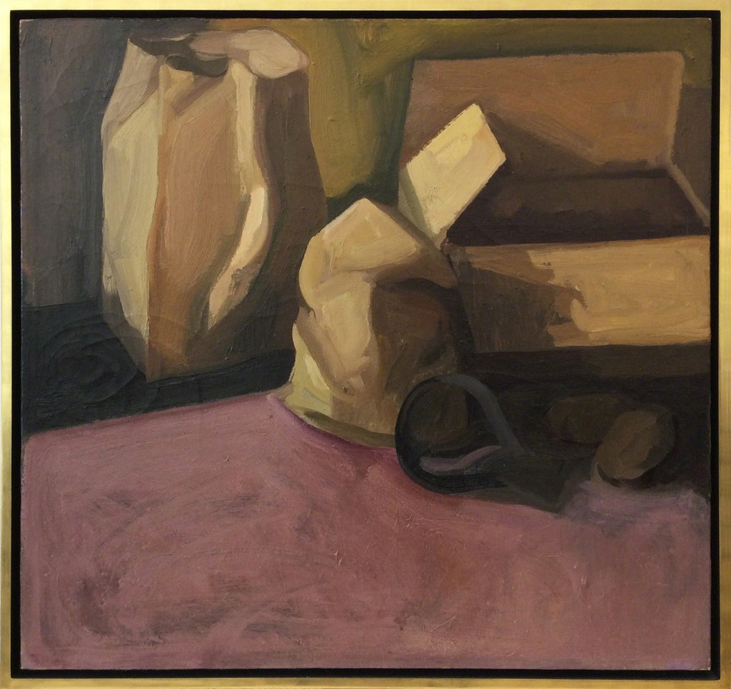 "James Weeks / ""Still Life with Paper Bags"" / 1961 / Oil on Canvas"