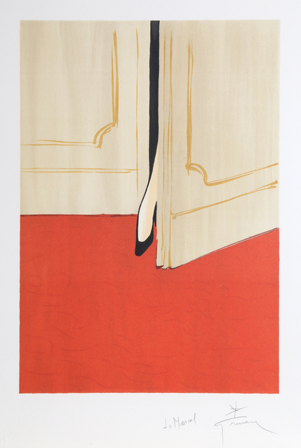 René Gruau, 'Petite Foot in the Doorway', ca. 1990, Print, Lithograph, RoGallery