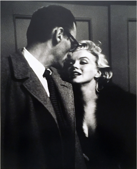 """, 'Marilyn Monroe & Arthur Miller at private Showing of """"Some Like It Hot,"""" 1959,' , KP Projects"""