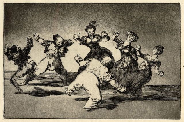 , 'Figures Dancing in a circle from Los Disparates,' 1816-1823, British Museum