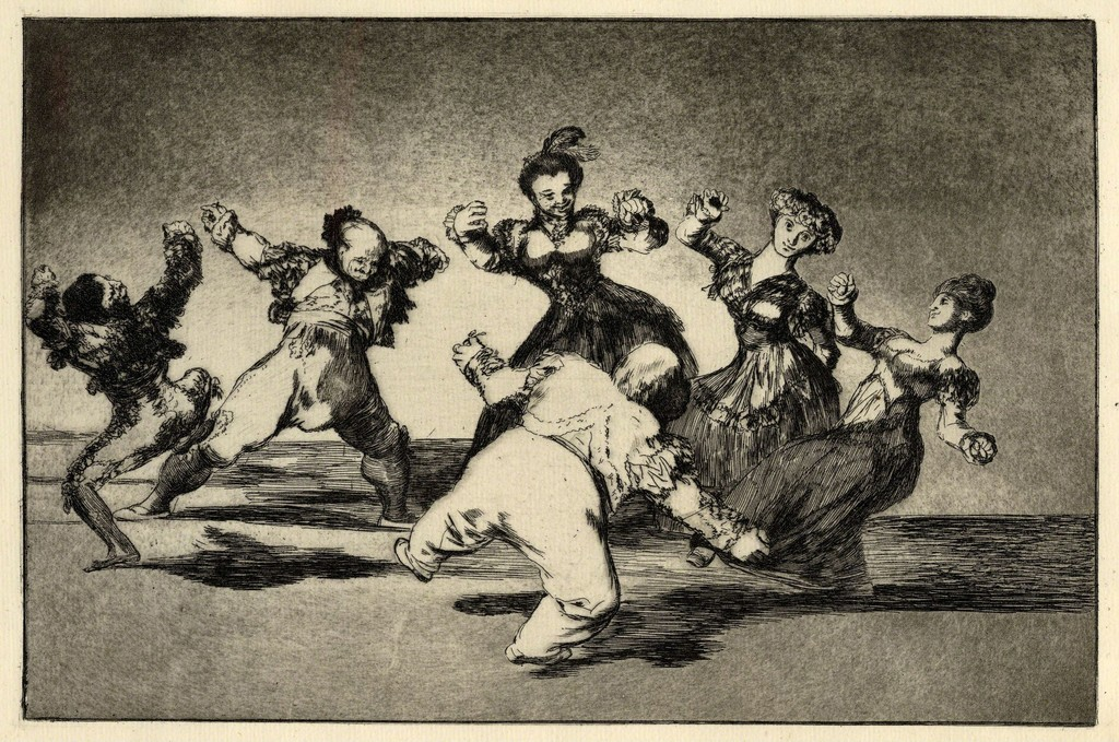 Figures Dancing in a circle from Los Disparates