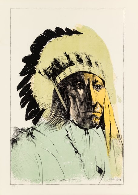 Leonard Baskin, 'Chief American Horse - Oglalla Sioux', 1973, Heritage Auctions