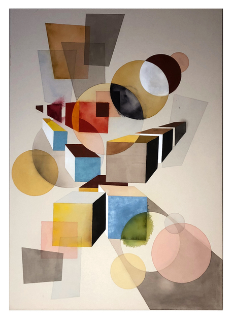 Tuomas Korkalo, 'Dramatic Composition V', 2020, Mixed Media, Watercolour, sumi-ink and acrylic on canvas, BBA Gallery