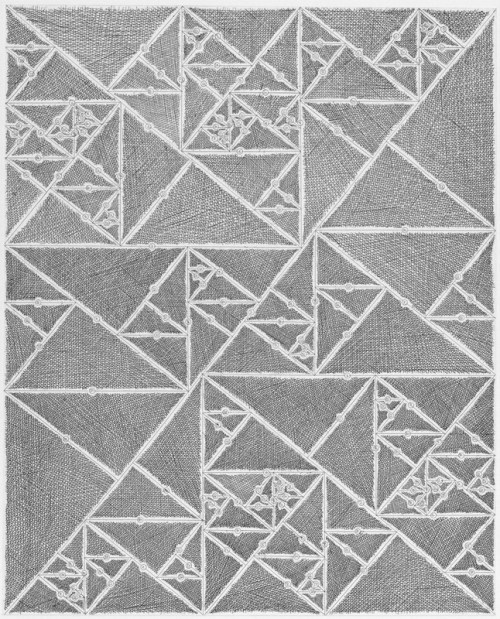 James Siena, 'Numbered Triangle Sequence', 2012, International Print Center New York (IPCNY)