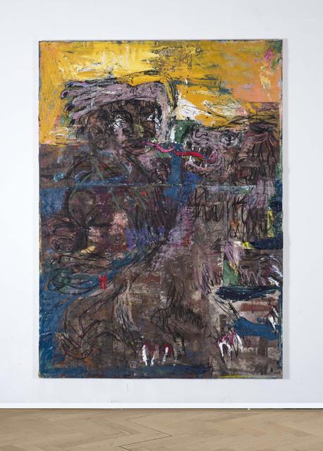 , 'Belfie and Beast kiss (gold sky),' 2018, Vigo Gallery