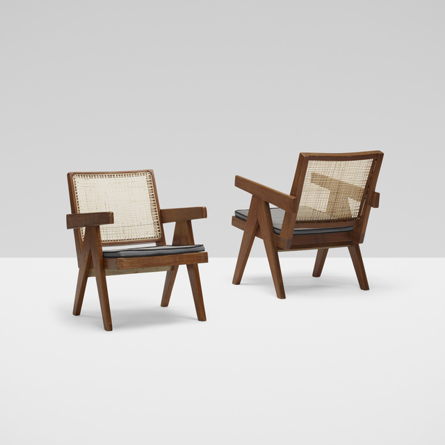 Pierre Jeanneret, 'Lounge Chairs from Chandigarh, Pair', c. 1955, Wright