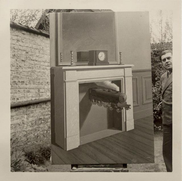 """, 'René Magritte et """"La Durée Poignardée"""" (1938), Bruxelles,' 1938, Bruce Silverstein Gallery"""