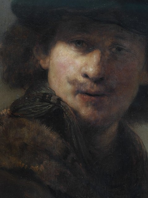 Reinhard Gorner, 'Detail From: Self Portrait with Velvet Cap and Gown with Fur Collar, Rembrandt', 2008, Undercurrent Projects