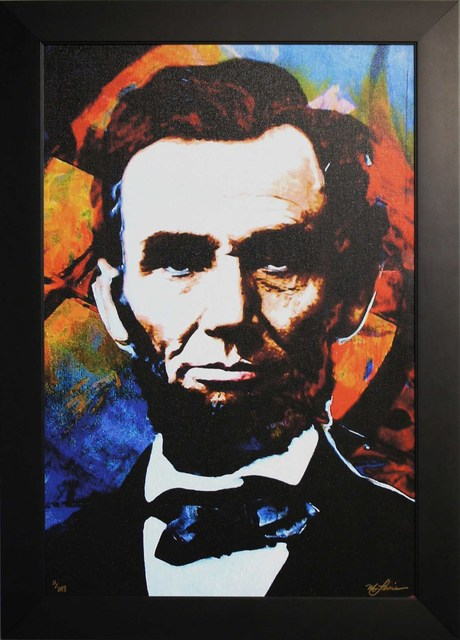 Mark Lewis, 'Limited Edition Giclee 'Knowing Lincoln - Abraham Lincoln' Celebrity Pop Art, Famous People Artwork', 2017, Fringe Gallery