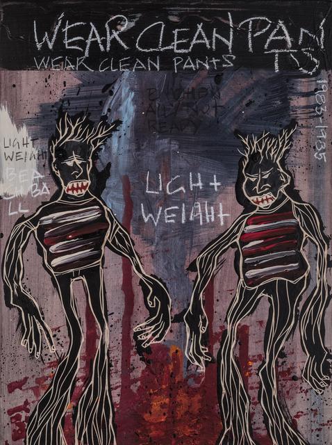 , 'Wear Clean Pants | The Freedom Paintings #02 ,' 2018, heliumcowboy