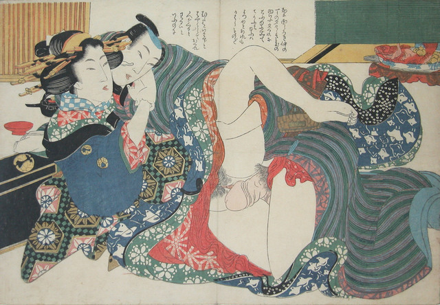 Keisai Eisen, 'Hurry, Hurry Someone is Coming', ca. 1830, Print, Woodblock Print, Ronin Gallery