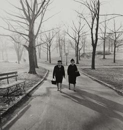 Two ladies walking in Central Park, N.Y.C.