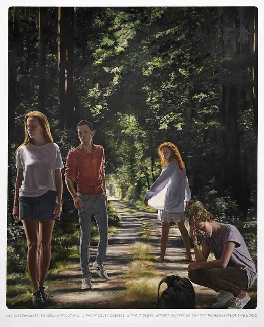 , 'Untitled (,, Like sleepwalkers, entirely...''),' 2019, Galerie Ron Mandos