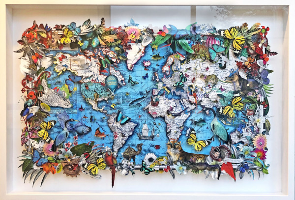 , 'Blue Sea Lioness World Map,' 2020, TAG Fine Arts