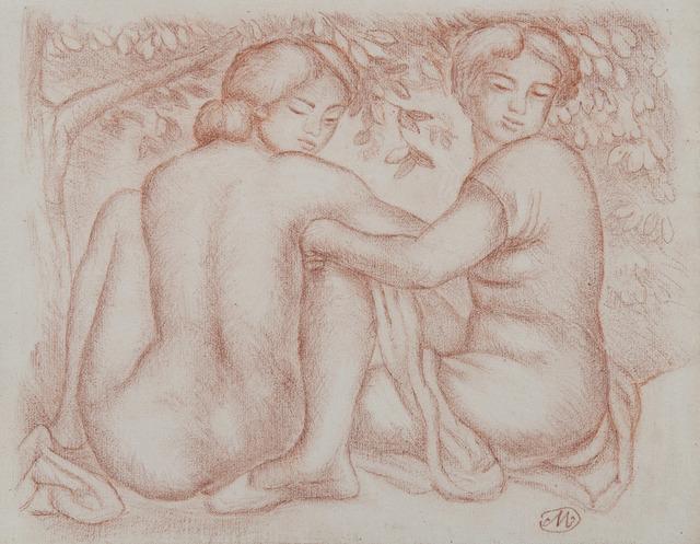 Aristide Maillol, 'Deux jeunes femmes sous un arbre', Unknown, HELENE BAILLY GALLERY