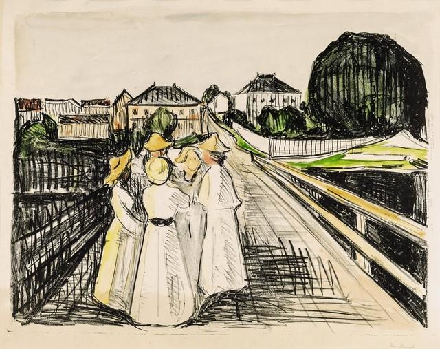 , 'On the bridge,' 1910, Galerie Thomas