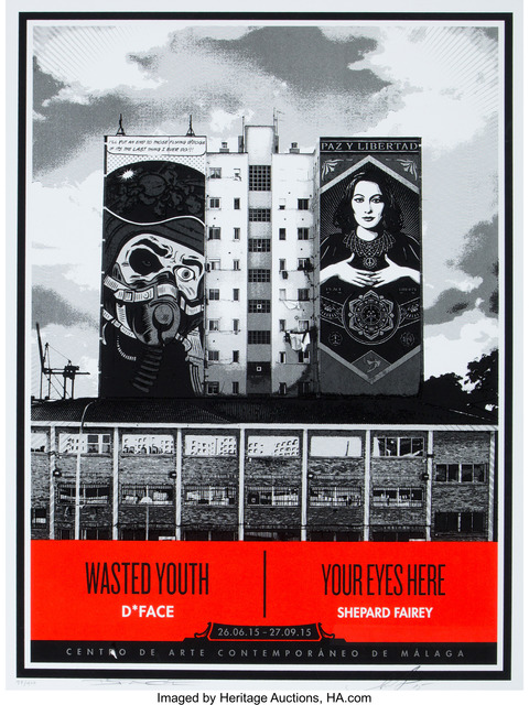 """Shepard Fairey (OBEY), '""""Wasted Youth/Your Eyes Here"""" (CAC Malaga Edition)', 2015, Heritage Auctions"""