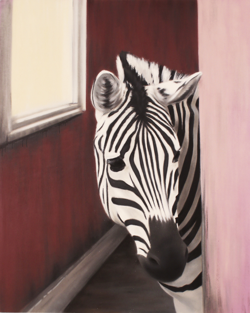 , 'Zebra in a Pink House,' 2016, Woodward Gallery