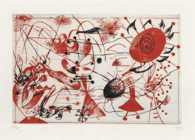 Joan Miró, 'Serie Noire et Rouge: one plate', 1938, Christie's