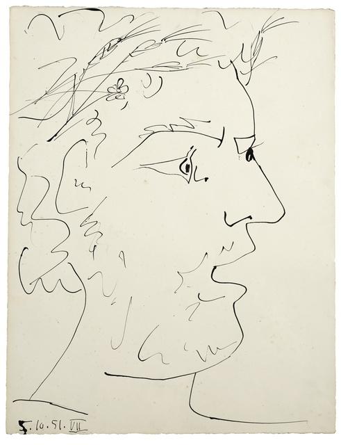 Pablo Picasso, 'Tête de Guerrier Pacifiste', 1951, Evelyn Aimis Fine Art