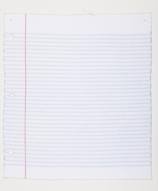 , 'Lined Paper,' 2012, Lisa Kehler Art + Projects