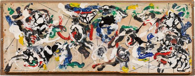 Oswald Oberhuber, 'untitled', 1950, Painting, Oil on canvas on wood, Galerie Kovacek & Zetter