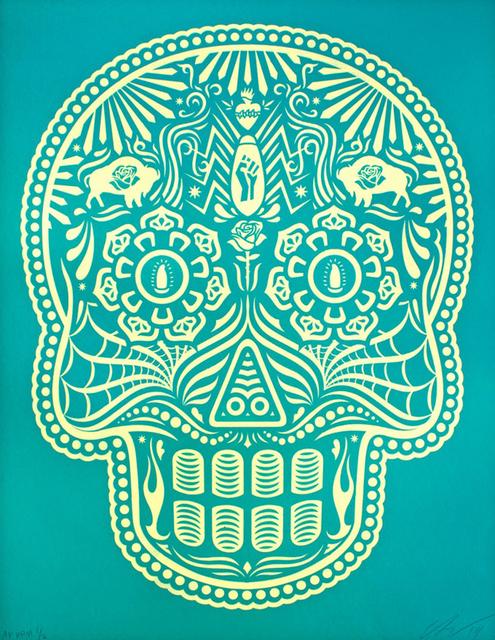 Ernesto Yerena, 'Calavera Turquoise & Cream Edition', 2019, Saguaro Gallery