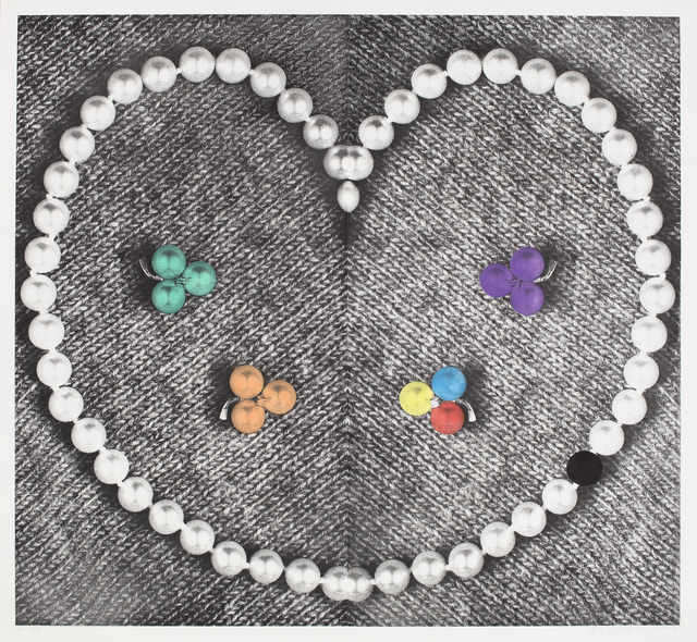 , 'Heart (with Pearls),' 1990-1991, Independent Curators International (ICI)