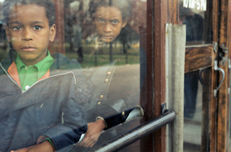 , 'VM1977K05877, April 1977, Kids behind glass,' , KP Projects