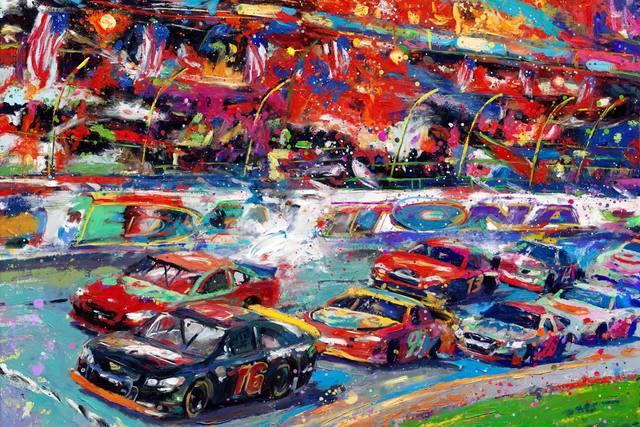 , 'The Great American Race – Original Painting,' , Newport Brushstrokes Fine Art