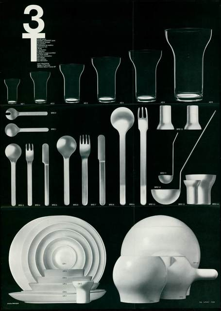 , 'Set of tableware 3T,' 1967, Les Arts Décoratifs