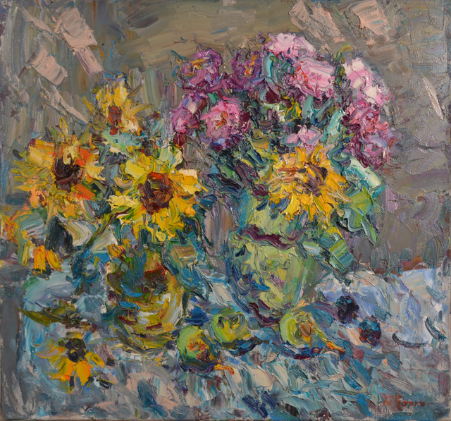 Anatoly Egorovich Zorko, 'Oil painting, original painting floral still life', 2008, Art-Impression