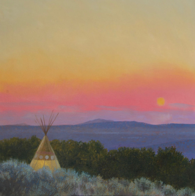Will Klemm, 'Taos Tipi', 2019, Painting, Oil on canvas, Wally Workman Gallery