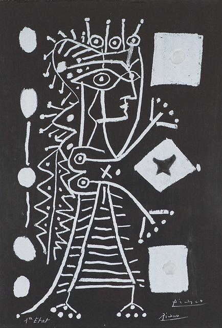 Pablo Picasso, 'La Femme Aux Dés (Jacqueline)', 1958, Larsen Gallery
