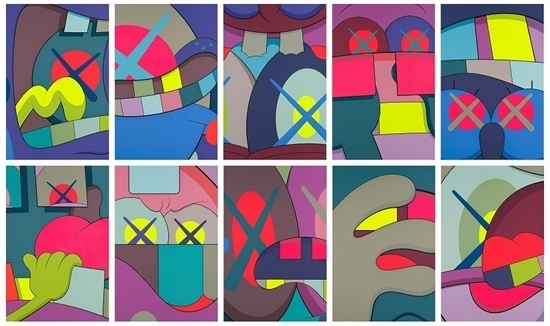 KAWS, 'Ups And Downs (complete set of 10)', 2013, Carmichael Gallery