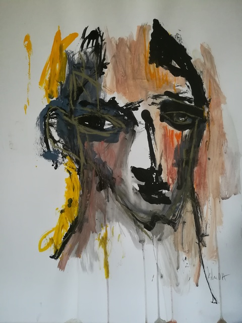 Pascal Briba, 'Jules', 2017, Painting, Acrylic and dry pastels on paper, Maison Depoivre