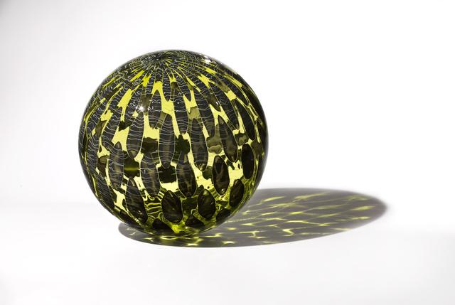 , 'Olive Shimmer Orb,' 2018, Duane Reed Gallery