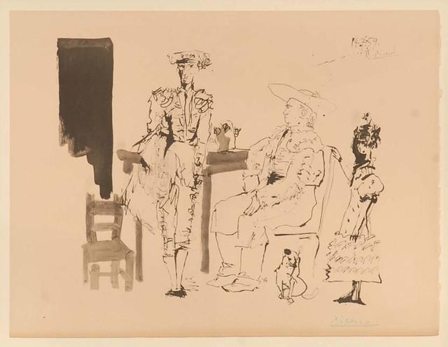 Pablo Picasso, 'Deaux Picador Et Femme', 1975, Print, Jacomet Produced Print In Colour, Stowe Gallery