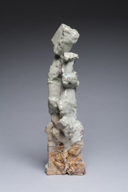 , 'Narrow Sculpture with Green and Brown,' 2018, LACOSTE / KEANE GALLERY