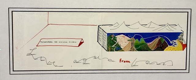 David Hockney, 'Hand Signed 'The Road to Malibu' with hand drawn waves and additional personalisation.', 1988, Mr & Mrs Clark's
