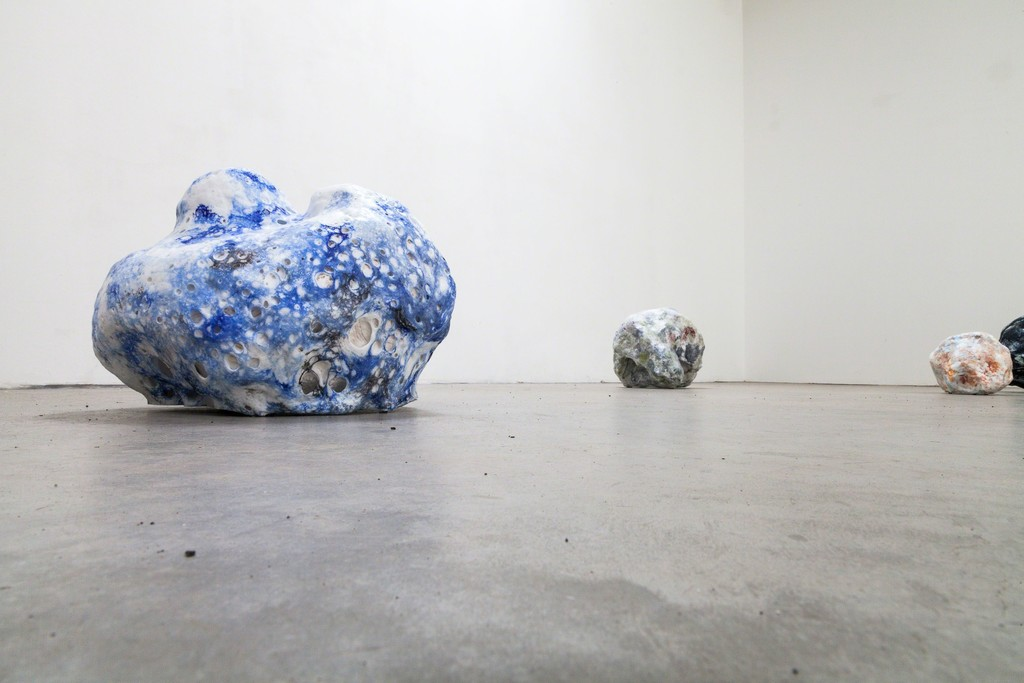 "Magdalena Gerber, ""Wolkenstein #5"",""Wolkenstein #3"", ceramics and porcelaine foam, unique copies 