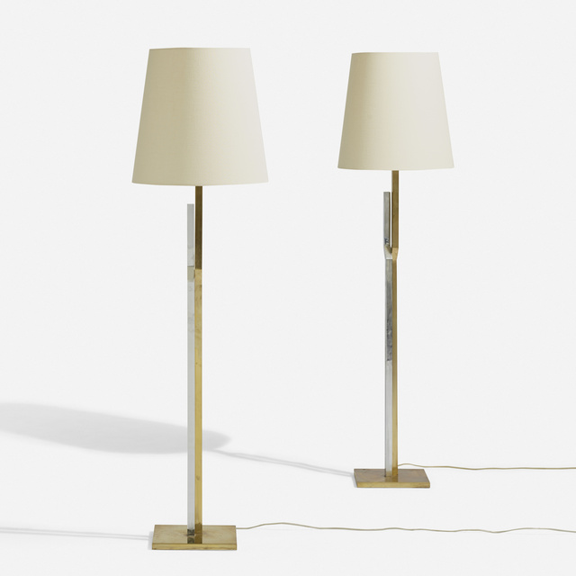 Svend Aage Holm Sørensen, 'Floor lamps, pair', c. 1970, Wright
