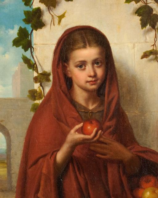 , 'Girl Holding Apple,' , Questroyal Fine Art