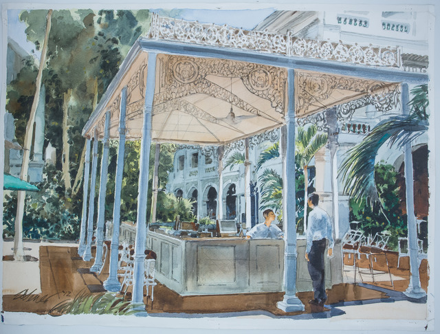 , 'Raffles Hotel Courtyard,' , Ode to Art