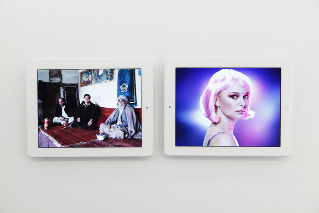 , ''Kabul Bomb' and 'Natalie Portman' Google Image Search Results Shown on Two Apple iPads,' 2013, Team Gallery